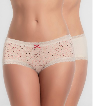 Pack 2 bragas PLAYTEX 66L Crema/Estampado
